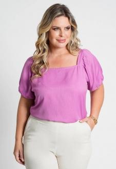 Blusa lisa com amarração costas pink Ref. U77121