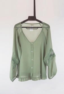Blusa verde de manga longa  Ref. 2612