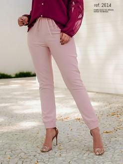 Calça alfaiataria jogger feminina rose ref. 2614