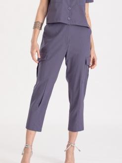 Calça azul com bolso ref. F12315