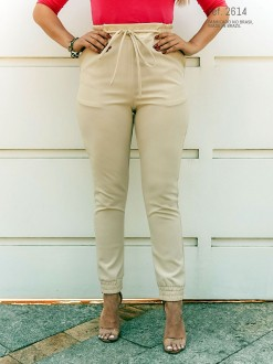 Calça jogger feminina Bege ref. 2614
