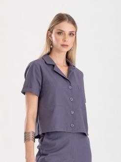 Camisa azul Ref. F12314
