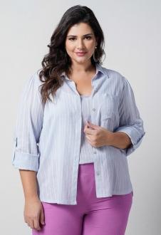 Camisa  com regata azul plus size  Ref. U69421