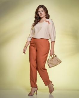 Conjunto calça e blusa  plus size  Ref. U61121