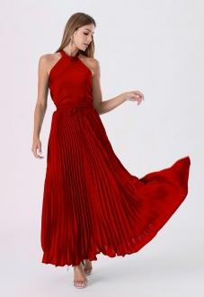 Conjunto feminino  plissado vermelho ref. 2663