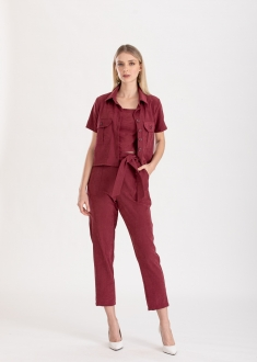 Conjunto marsala calça  e camisa ref. F12304529