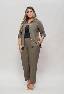 Conjunto militar calça e camisão  plus size  Ref. U63621