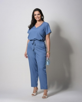 Conjunto plus size  blusa e calça U58621