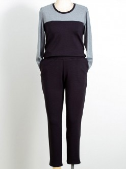 Conjunto plus size de calça com blusa moletinho U841620 T44 50