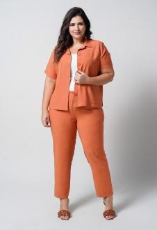 Conjunto  plus size  telha camisa e calça  Ref. U66621