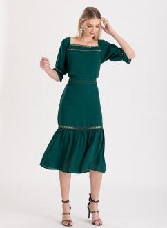 Conjunto saia e blusa verde ref. F119934