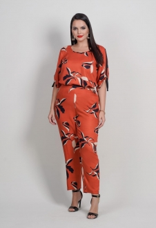 Conjunto telha blusa  e calça plus size  Ref. U64621