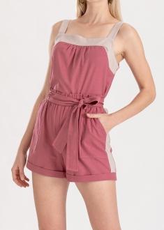Shorts rosa bolso lateral  ref. F12313