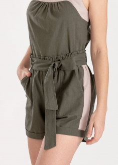 Shorts verde bolso lateral  ref. 12313