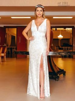 Vestido branco ideal como vestido de noiva civil - Ref. 2361