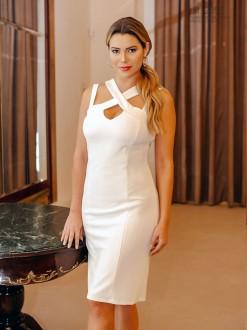 Vestido branco para casamento civil - Ref. 2351