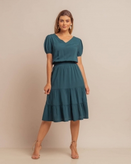 Vestido liso com manguinha Ref. B3622