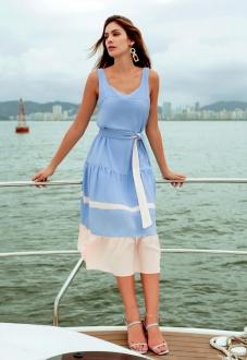 Vestido curto azul serenity ref. F12202
