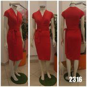 Vestido curto de malha com faixa na cintura ajustável - Ref. 2316