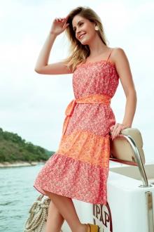 Vestido curto estampado flor pink ref. F12247