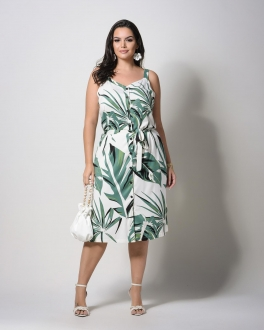 Vestido curto plus size  U57721