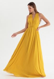 Vestido de festa Amarelo multi-tamanho Ref. 2580