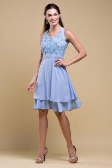Vestido de festa curto Azul Serenity Ref. 2467
