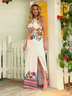 Vestido estampado frente única Off-white - Ref. 2385