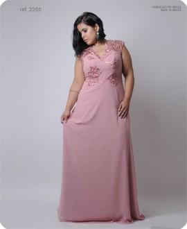 Vestido de festa longo Chifon com gippir - Ref. 2250