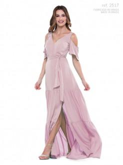 Vestido de festa longo Rosê ref. 2517