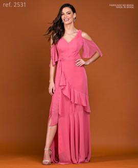 Vestido de festa longo Coral ref. 2531