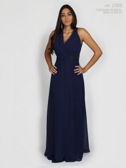 Vestido de festa longo azul marinho - Ref. 2360