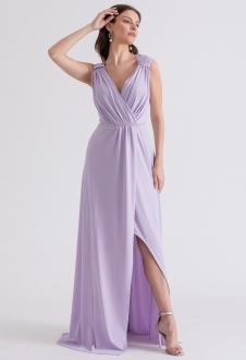 Vestido de festa longo lilas deusa grega - Ref. 2314
