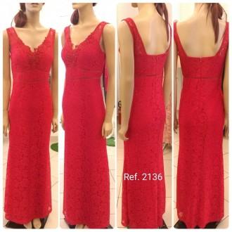 Vestido de festa longo Sereia em renda com brilho - Ref. 2136 s