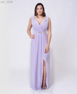 Vestido de festa longo tipo deusa grega com cinto - Ref. 2314