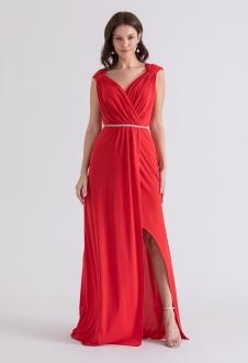 Vestido de festa longo vermelho deusa grega - Ref. 2314