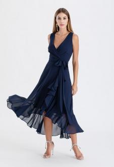Vestido de festa marinho mullet ref. 2480