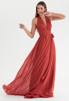 Vestido de festa Terracota multi-tamanho Ref. 2580