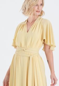 vestido para madrinha de casamento amarelo ref.2593