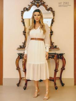 Vestido de noiva branca para casamento civil ref.2582