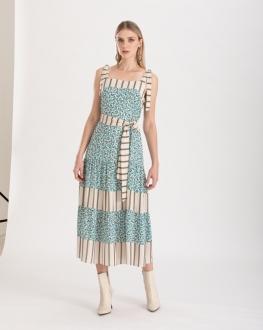 Vestido azul estampado floral Ref.F12318