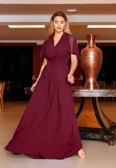 Vestido de madrinha Marsala multi tamanho ref.2593