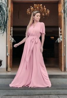 Vestido longo para madrinha Rosê ref.2593 tamanho único