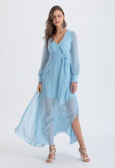 Vestido madrinha azul serenity ref. 2581