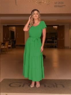 Vestido de malha  verde - Ref. 2630