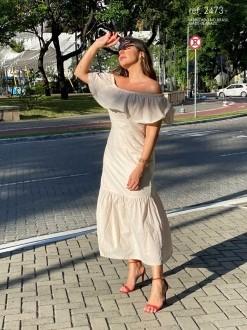 Vestido Midi de voal Laise  - Ref. 2473