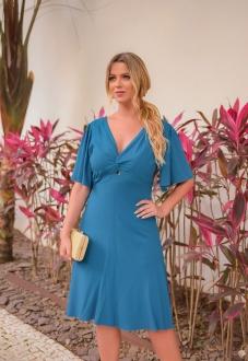 Vestido curto azul canard Ref. 2645