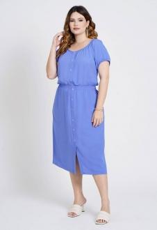 Vestido  midi com elastex Azul  Ref. U79021