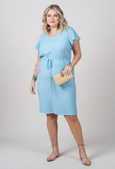 Vestido midi plus size azul - Ref. U69821