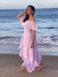 Vestido mullet rosa  ref. 2632